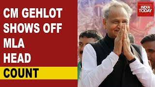 Rajasthan Political Crisis: Ashok Gehlot Shows Off MLA Head Count As A Victory Sign To Sachin Pilot