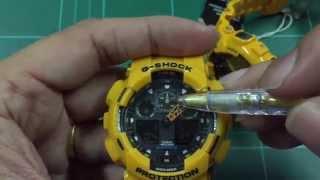 7จุดเปรียบเทียบ G-shock แท้ปลอมรุ่นGa-100-9