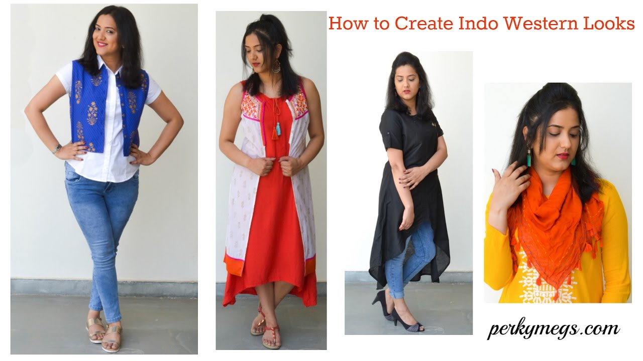 8dc48b475 How to create Indo Western Looks by Mixing & Matching outfits   Ethnic  fusion look   Perkymegs