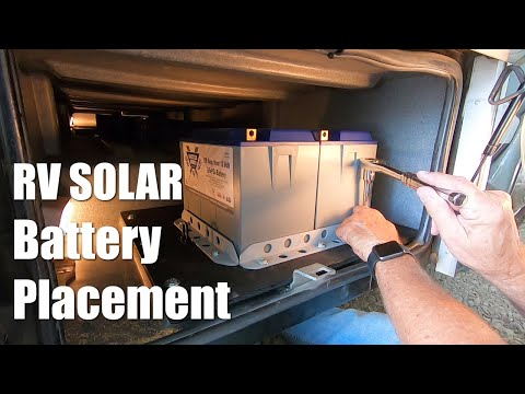 Our RV Solar Battle Born Lithium Battery Placement