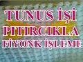 Tunus İşi Pıtırcıkla Fiyonk İşleme , Canım Anne