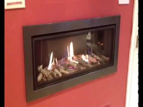 infinity 890 gas fire. infinity fires 890 cf with logs and flat gunmetal frame gas fire