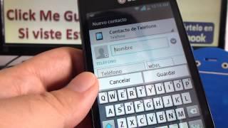como añadir contacto internacional en whatsapp LG® Optimus L4 comoconfigurar