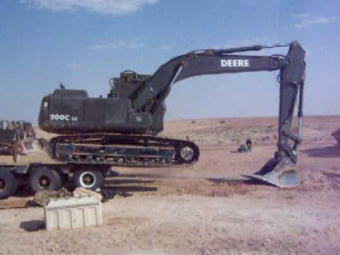 Excavator Falling