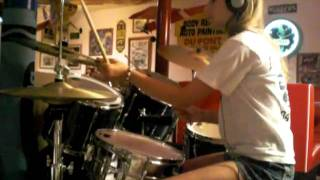 "Ambidextrous 14 Yr Old Girl Drummer ""Need Your Loving Tonight"" by Queen (Cover)"