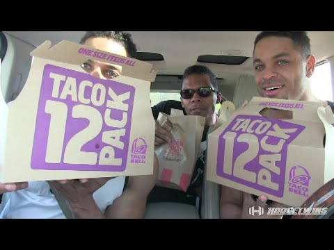 30 Taco Bell Tacos Eating Challenge | Eat Off | @hodgetwins
