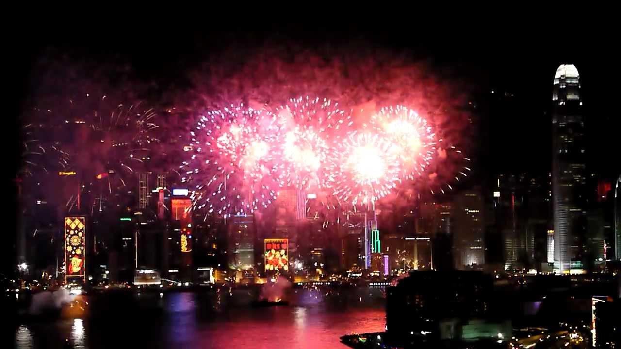 香港・2012年農曆新年煙花匯演 - YouTube