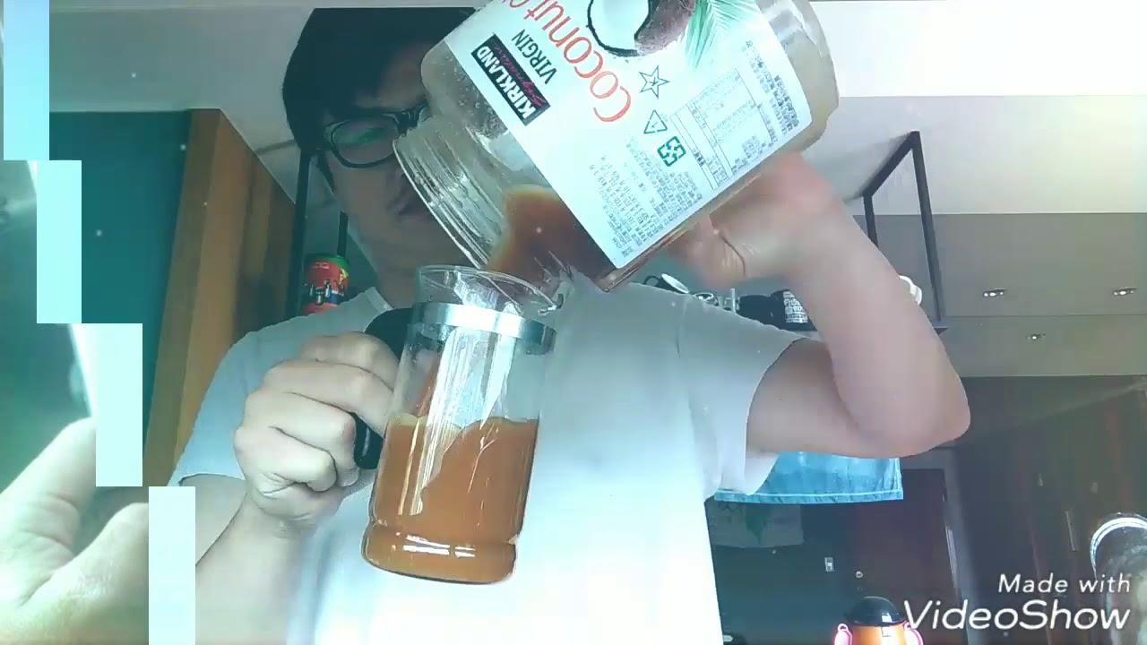 防彈咖啡 第一瓶costco椰子油 已空 - YouTube