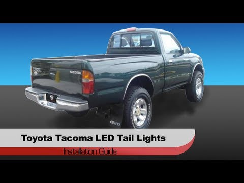 auto installation 1995 2004 toyota tacoma led tail lights youtube. Black Bedroom Furniture Sets. Home Design Ideas
