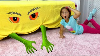 Sofia and Monster under the bed Kids story