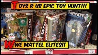WWE ACTION INSIDER: ToysRus wrestling figure toy run! Mattel Elites figures Jeff Hardy elite Basics
