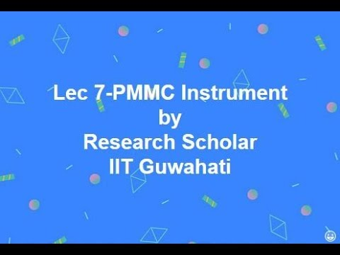 Lec 7-PMMC (Moving Coil) Instrument,Electrical Measurements || Electrical Engineering
