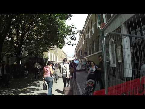 Walking in Brick Lane market on the way to the 24 Hour Beigal Shop, London - Sunday 17th July 2011