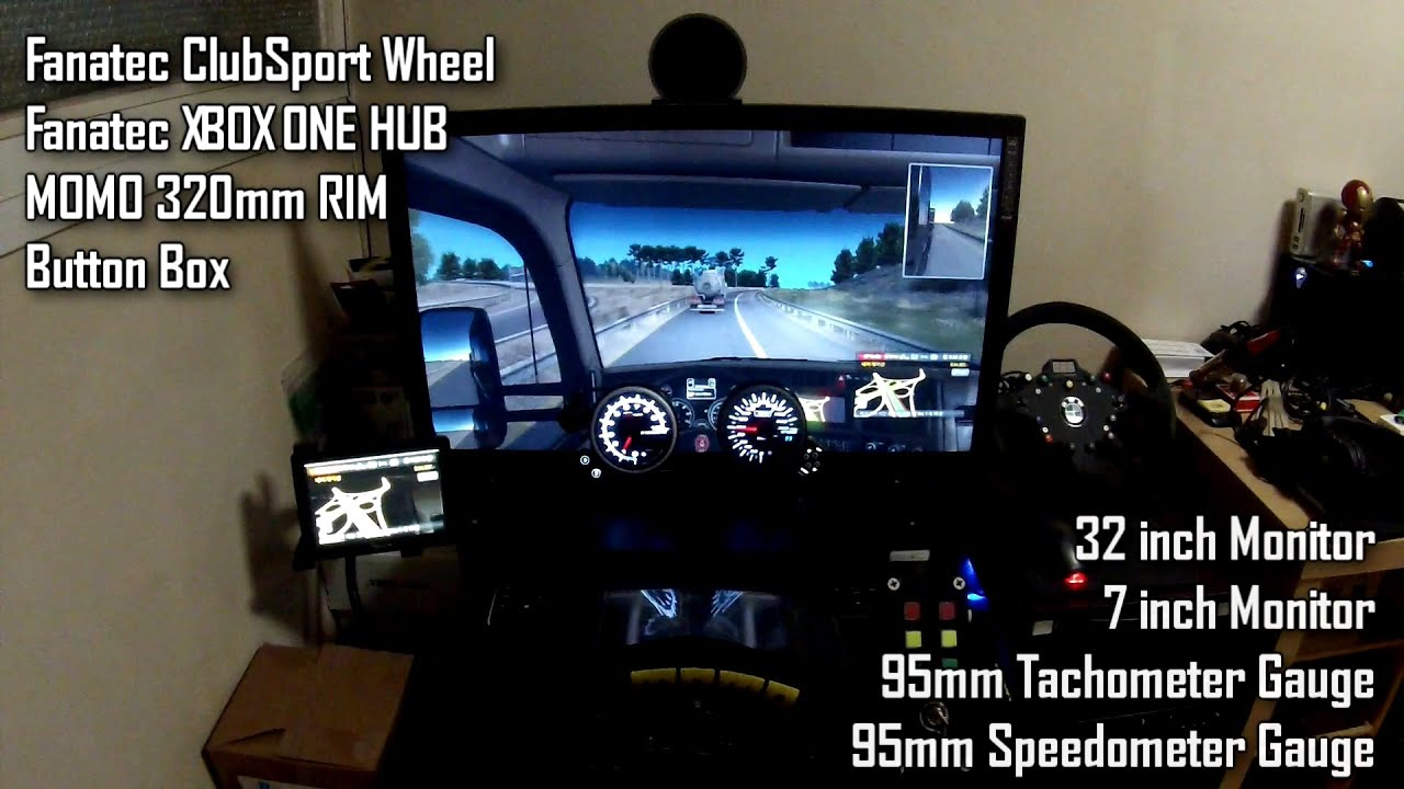 pc american truck simulator wheel play fanatec csw. Black Bedroom Furniture Sets. Home Design Ideas