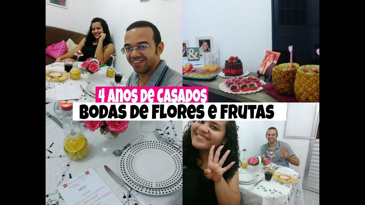 4 Anos De Casados Surpresa Para O Marido Bodas De Flores E Frutas Casadaao18