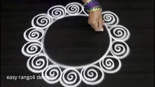 Krishna jayanthi kolam designs || Janmastami muggulu || easy rangoli for krishnastami