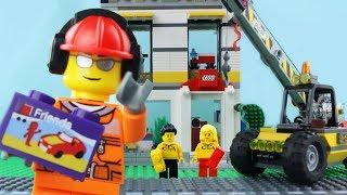 LEGO City Store Brick Building STOP MOTION LEGO Truck Crane Speed Build   LEGO City   Billy Bricks