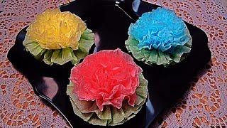 Как красиво сложить салфетку Цветы из салфеток Flowers of serviette