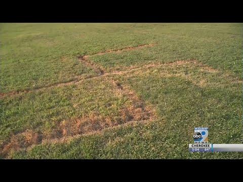 Swastika burned into Omaha, NE Park