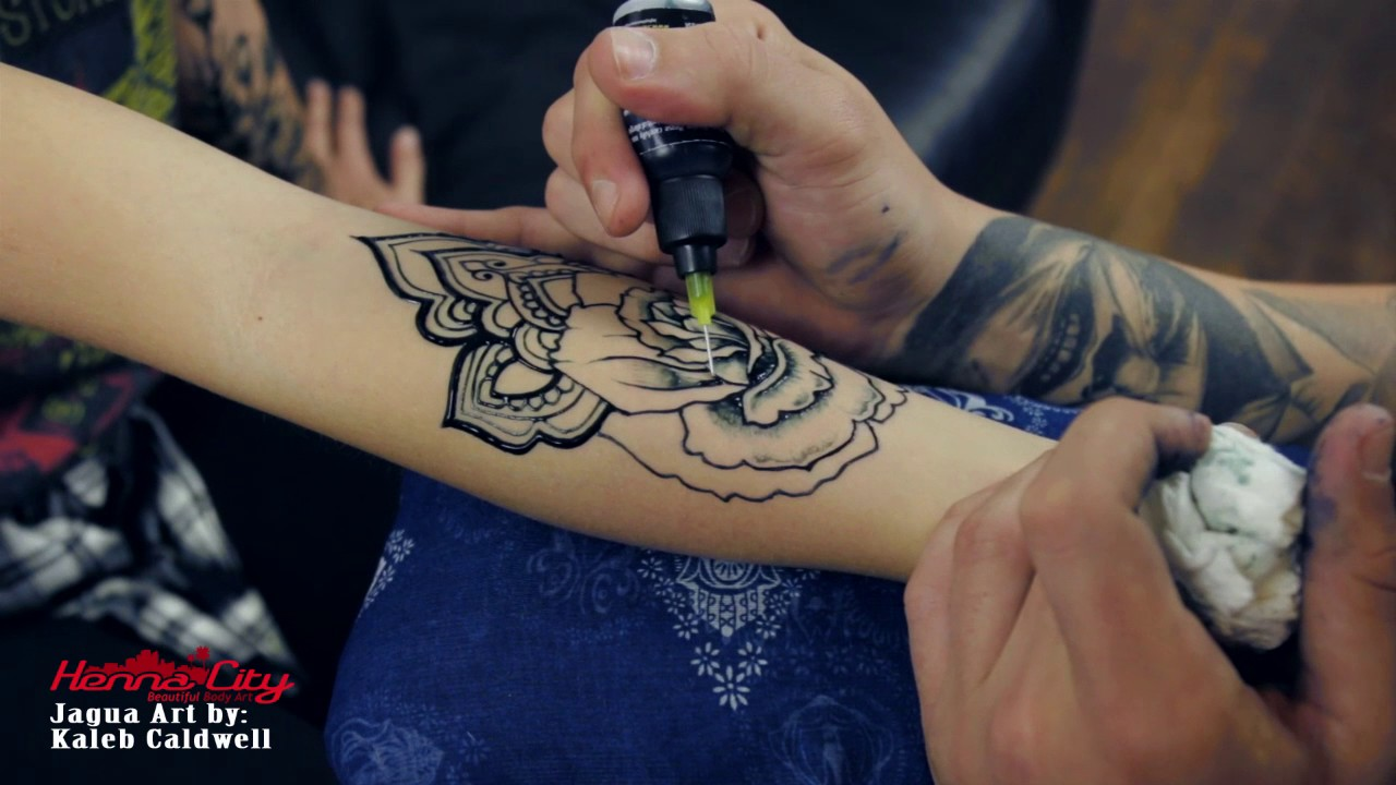Temporary Tattoo Ink Like Henna: Amazing Temporary Tattoo Made With Jagua Gel