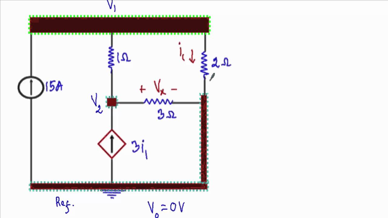 Nodal Analysis : Dependent Source Circuit