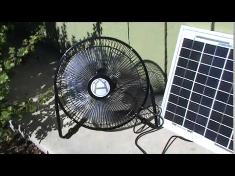 Solar Fan - Solar Powered Plug and Play Fan