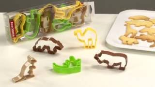 Foremki do ciasteczek zwierzęta w zoo - 12 szt | TESCOMA DELICIA KIDS | kuchnianawidelcu.pl