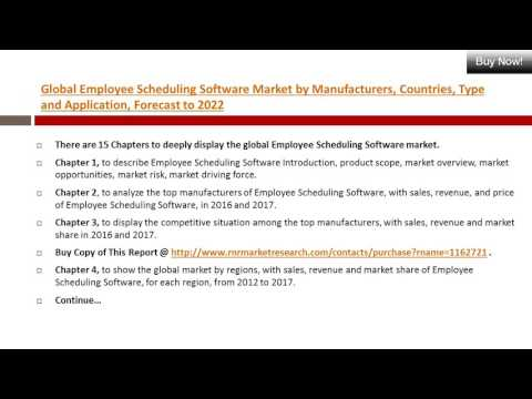 Employee scheduling software Trends & Market Segment Analysis by Global Country & Regions in 2017