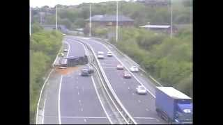 M62 Crash Leeds West Yorks UK