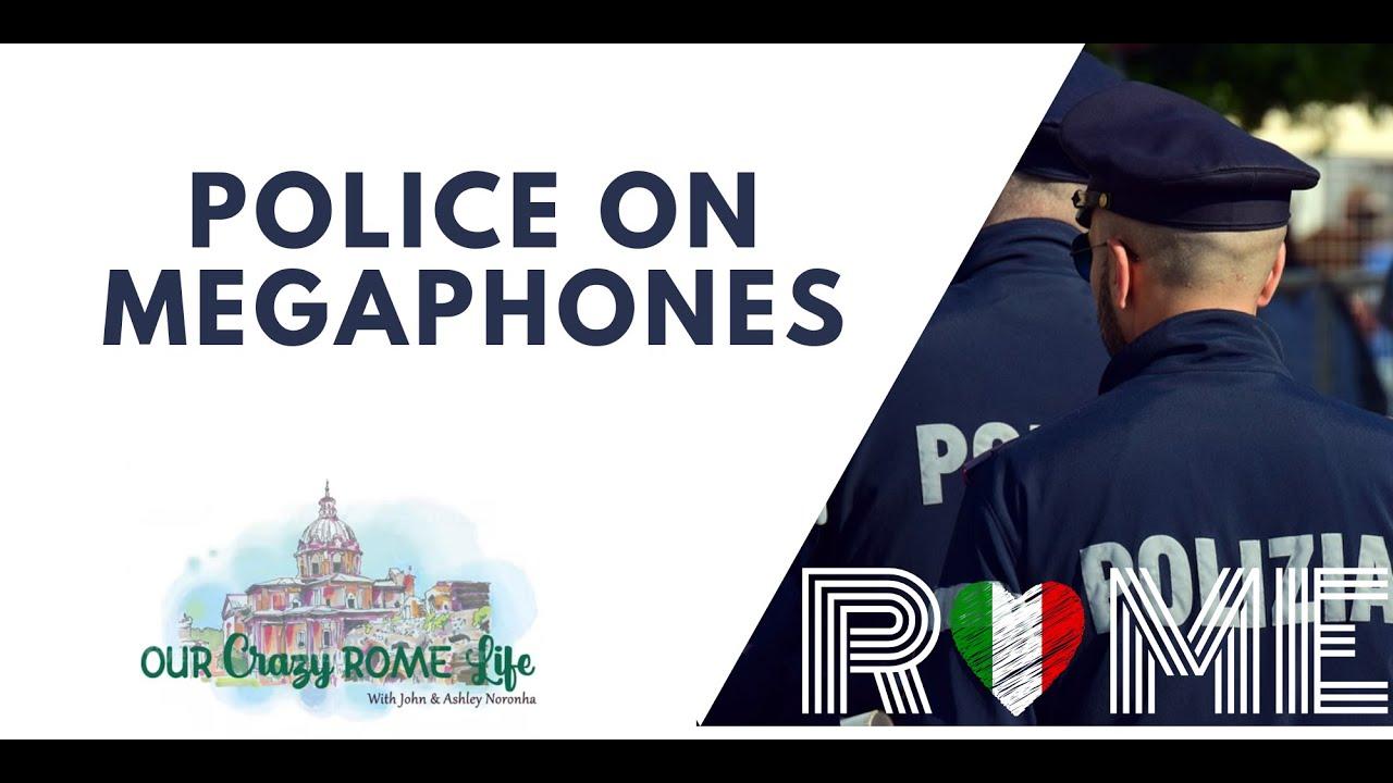 "Police megaphones: ""Stay Indoors"""