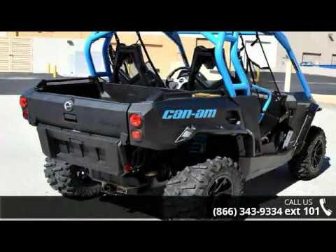 2016 Can Am Commander Xt 800r Matte Black Octane Blue