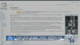 Phony Wikipedia post involving SunFest Band