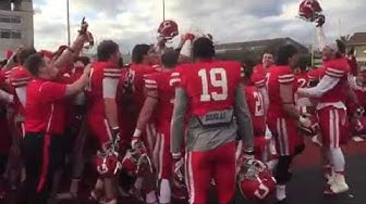 Big Red Football Sings Cornell Victorious