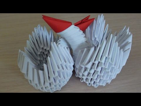 Модульное оригами для начинающих. Маленький лебедь. Мастер класс (мк)