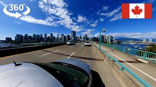 360° Drive in Vancouver from Cambie Street to Science World