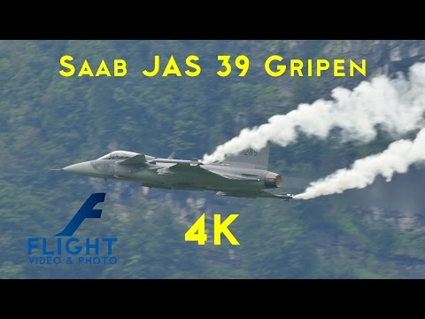 Saab JAS 39 Gripen of Swedish Air Force - Ultra HD 4K Fighter Aircraft Video