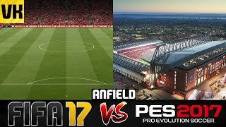 FIFA 17 VS PES 2017 STADIUM COMPARISON: Anfield #2