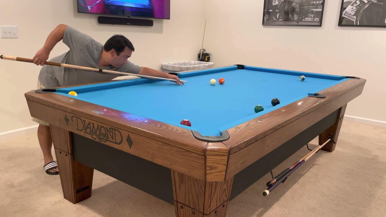 10 Ball Run Out 19 | Diamond Pool Table