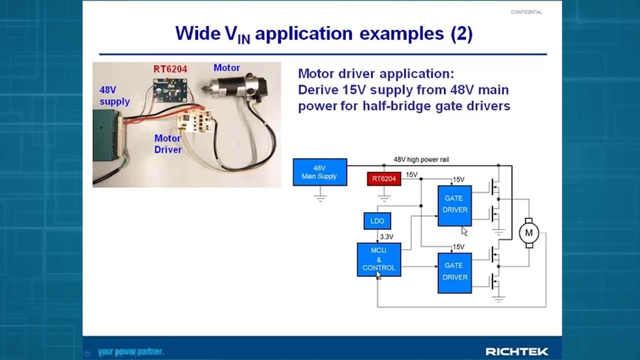 How To Design 33v Output From 50v Input Introducing Richtek Rt6204 High Power Buck Converter 60v