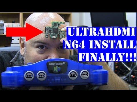 N64 UltraHDMI - mod install walk through - Nintendo 1080p hdmi