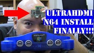 N64 UltraHDMI - mod install walk through - Nintendo 1080p hdmi - Tips n Tricks