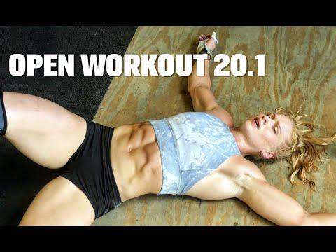 Annie Thorisdottir takes on Open workout 20.1