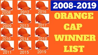 IPL Orange Cap WINNERS LIST/ Orange Cap 2008-2019 WINNERS LIST /IPL 2020 LATEST NEWS