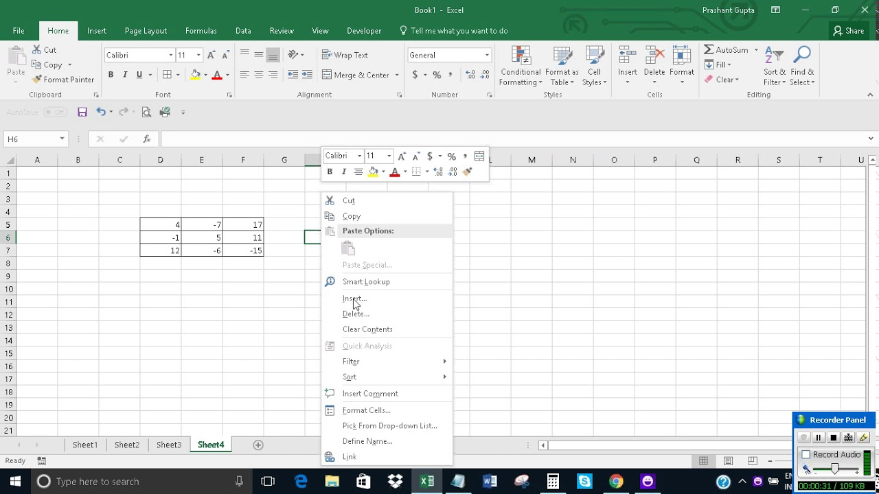Convert negative values to zero in Excel