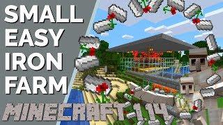 Minecraft 1.14 Iron Farm: Small Iron Farm | Fewer Villagers | Less Lag | Expandable (Avomance 2019)