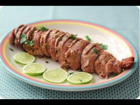 how to cut pork tenderloin to stuff
