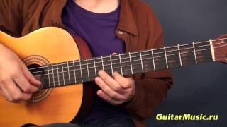 Цыганочка на одной струне Простые мелодии на гитаре