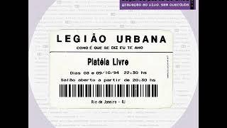Legião Urbana - Metal contra as nuvens (ao vivo)