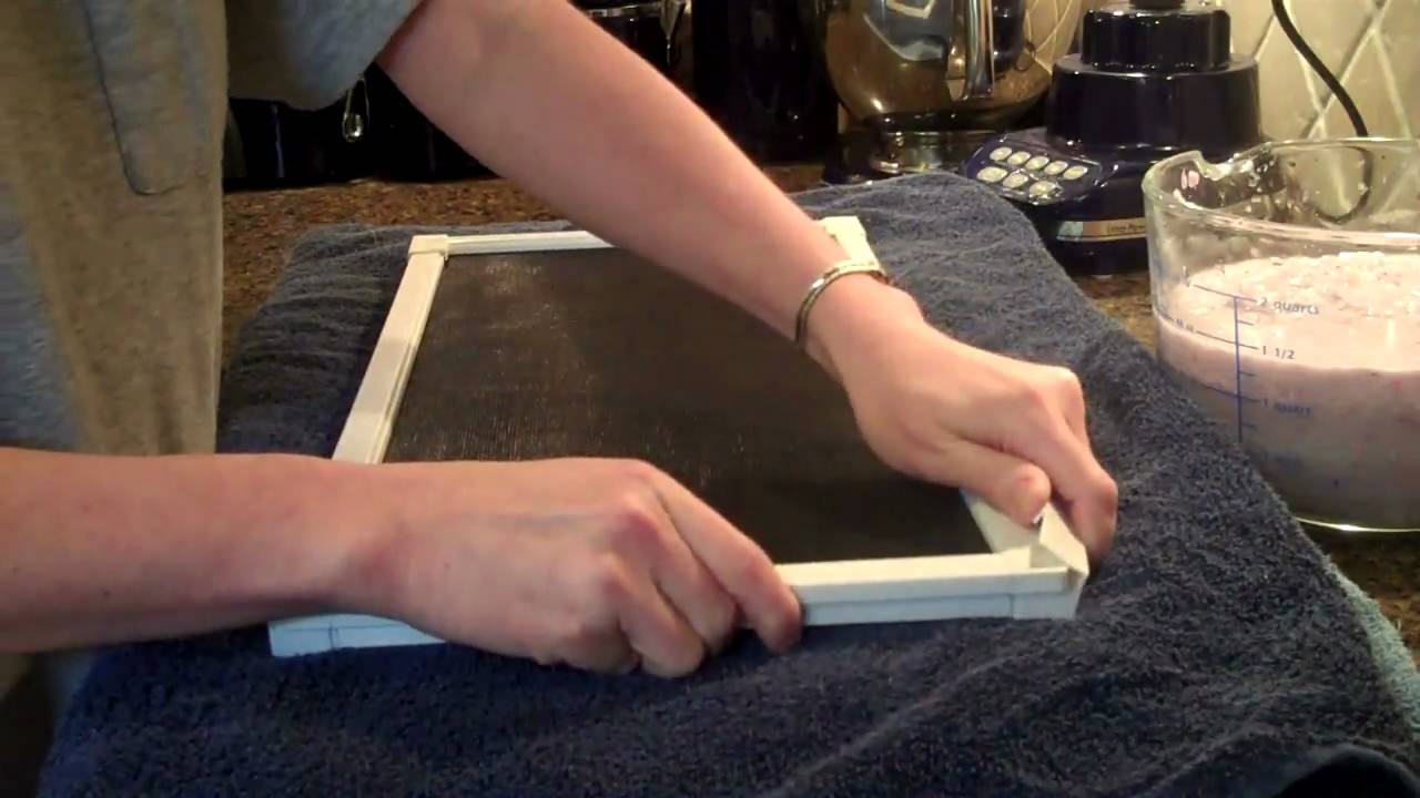 Handmade Paper With Flower Seeds Youtube