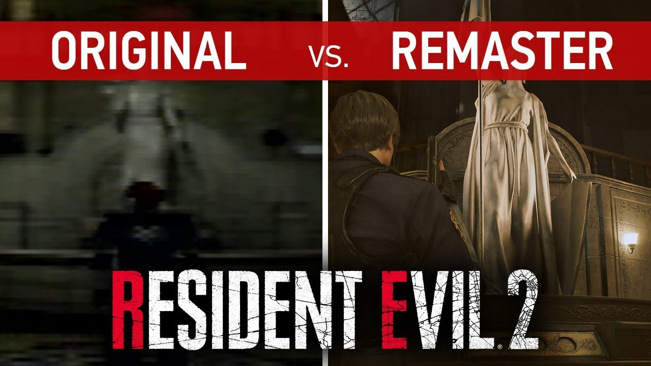 Resultado de imagen de resident evil 2 ps1 vs remake
